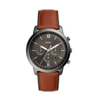 Fossil horloge Neutra Chrono FS5512 bruin/grijs, Grijs