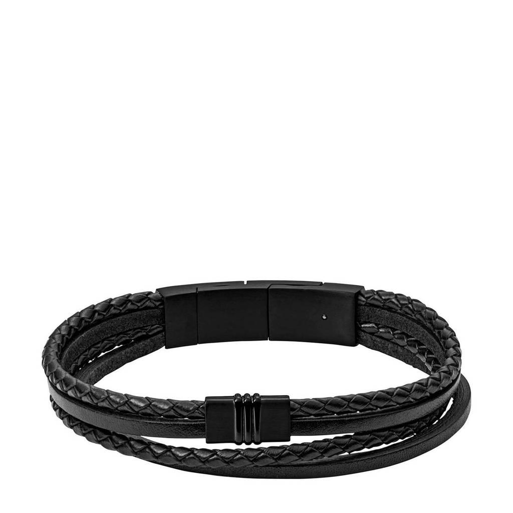 Fossil Vintage Casual Heren Armband JF03098001, Zwart