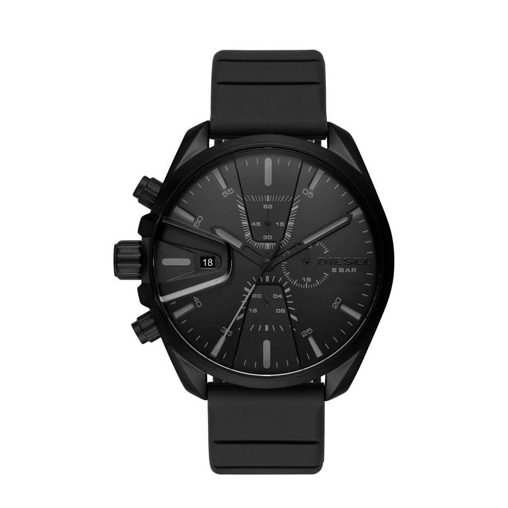 Diesel horloge Ms9 Chrono DZ4507 zwart DZ4507, Zwart