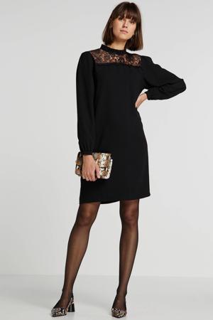 jurk met kant zwart