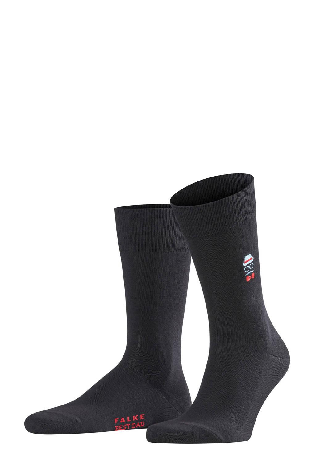 FALKE sokken Best dad zwart, Zwart