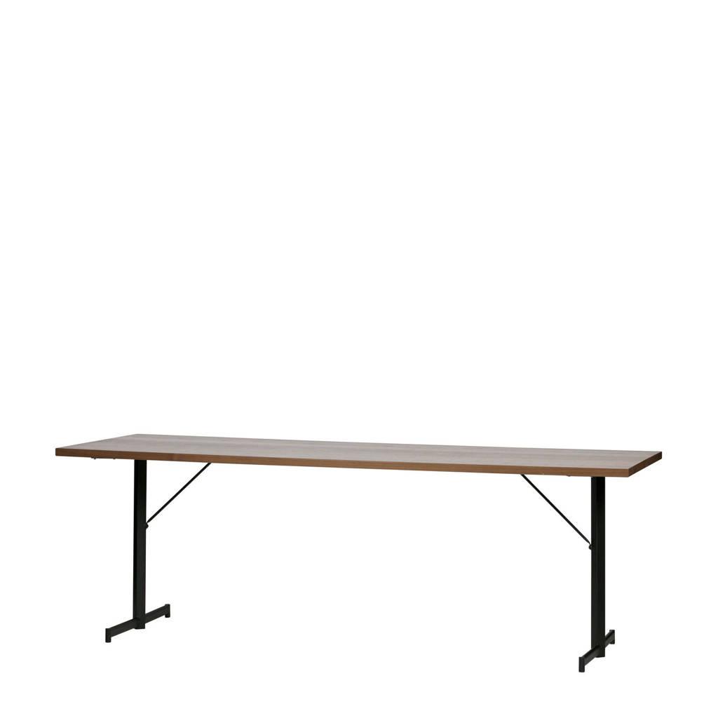 vtwonen eettafel Panel 220 cm, Noten/zwart