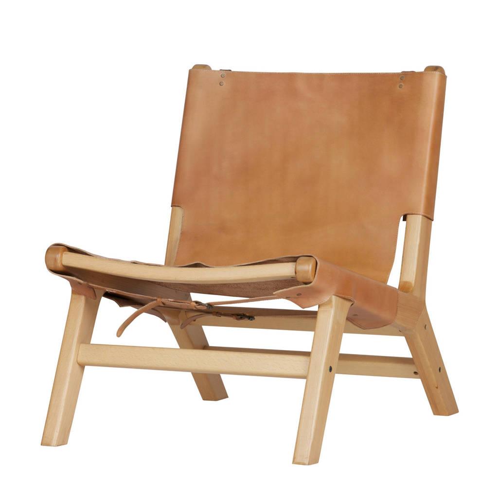 vtwonen leren fauteuil Buckle Up, Naturel