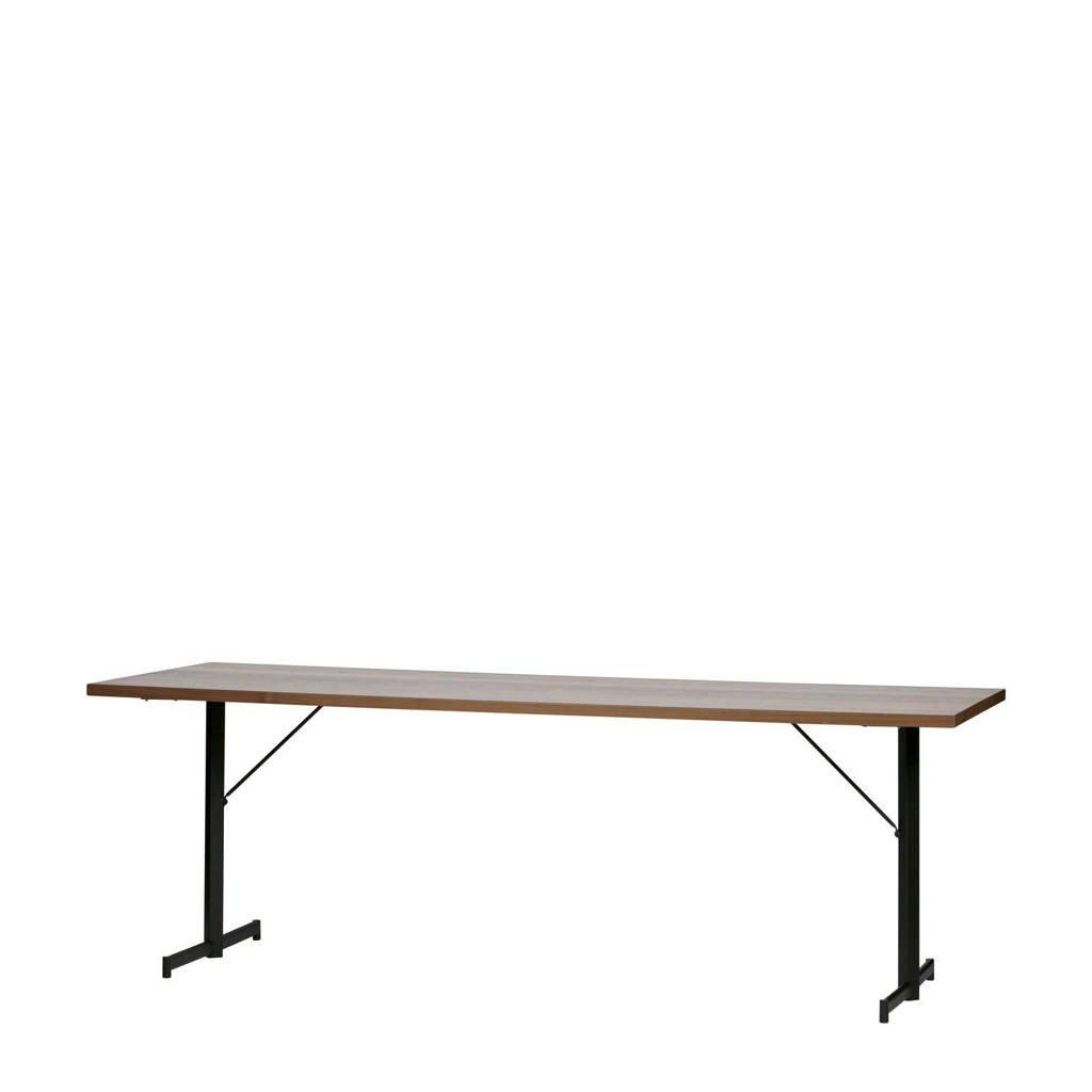 vtwonen eettafel Panel 190 cm, Noten/zwart, 80