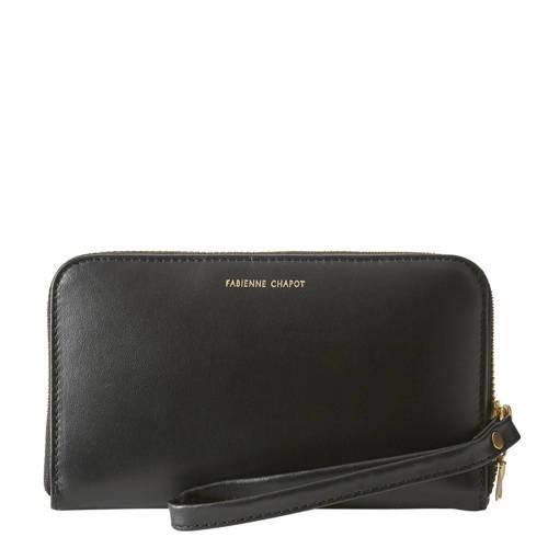 Fabienne Chapot leren portemonnee zwart kopen