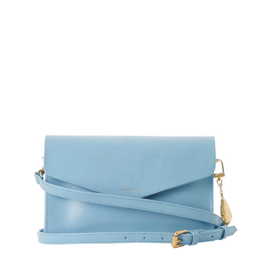 Fabienne Chapot  leren crossbody tas Rhea Bag Big lichtblauw, Lichtblauw