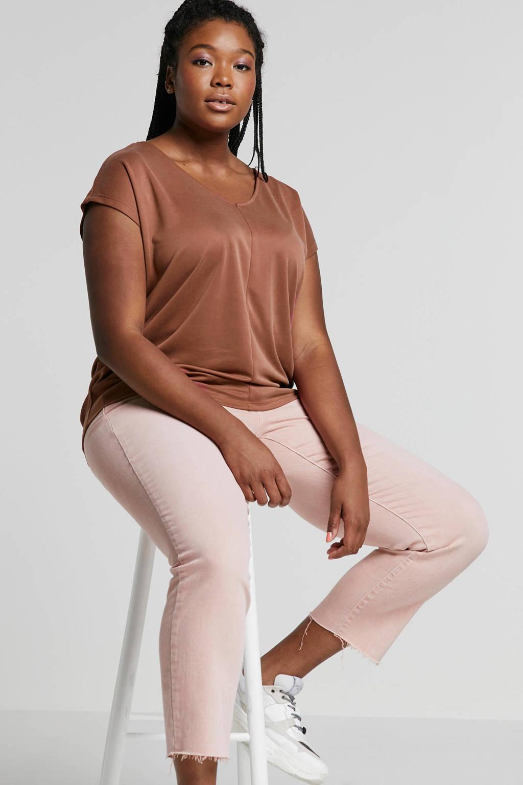 Lauren Woman slim fit jeans roze, Roze
