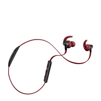 Lace sport in ear bluetooth koptelefoon rood