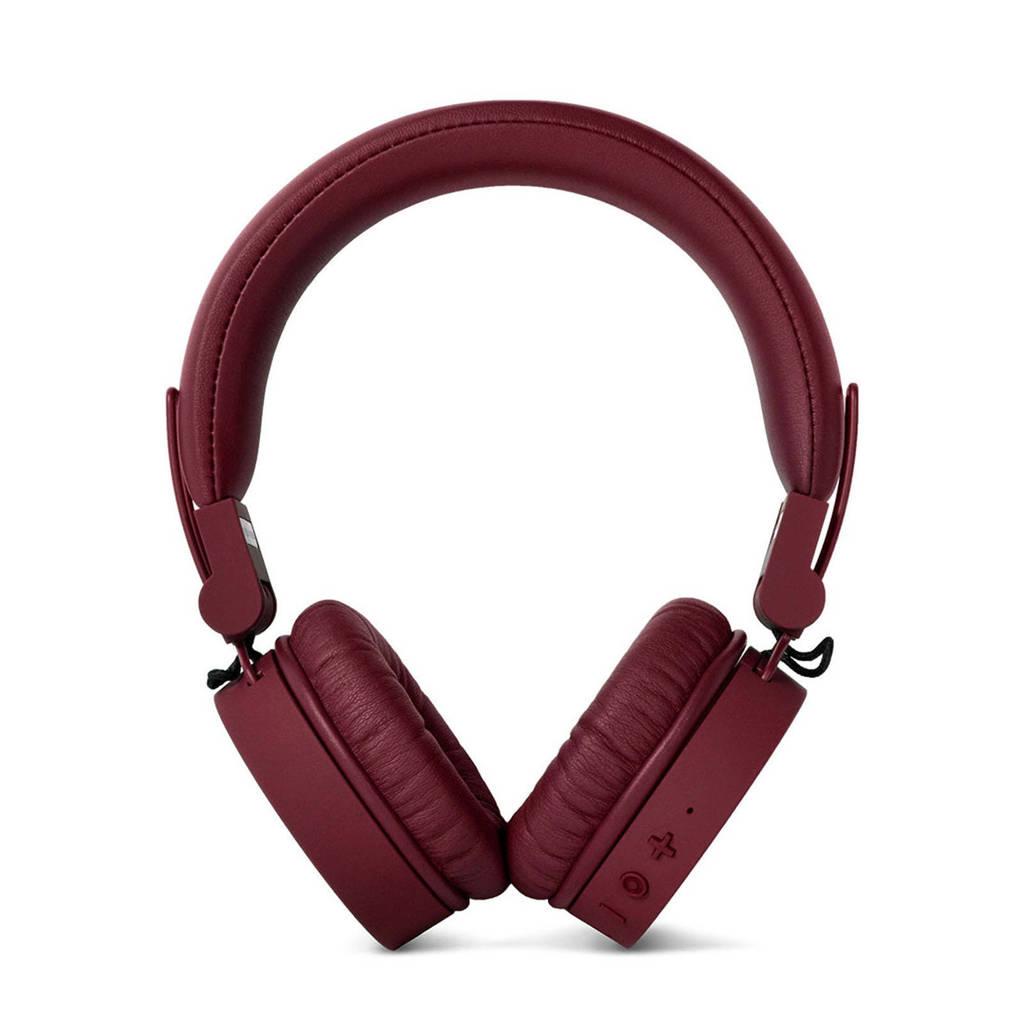 Fresh 'n Rebel CAPS Bluetooth on-ear koptelefoon (donkerrood), Rood, Op het oor