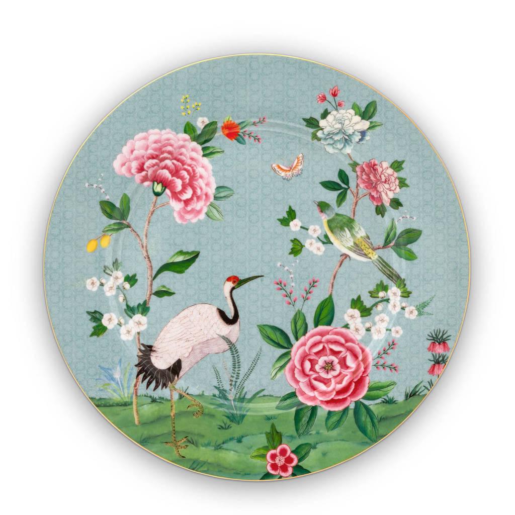 Pip Studio Blushing Birds dinerbord (Ø32 cm), Blauw/groen/roze