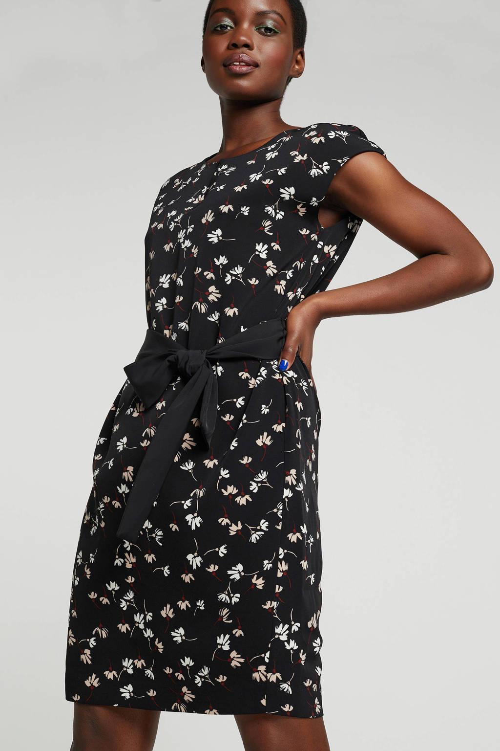 Inwear gebloemde jurk zwart, Zwart
