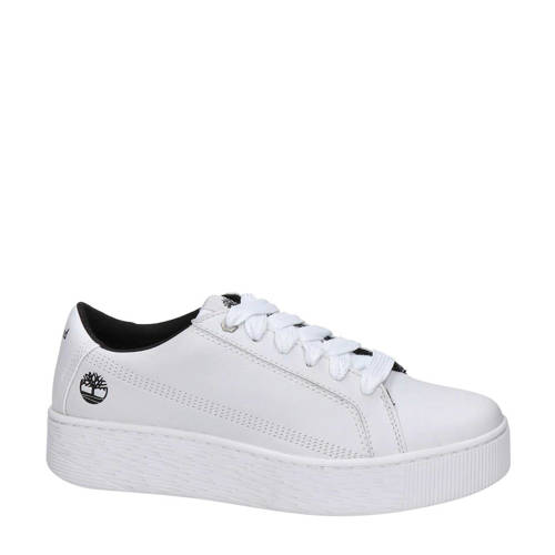 Timberland leren plateau sneakers wit