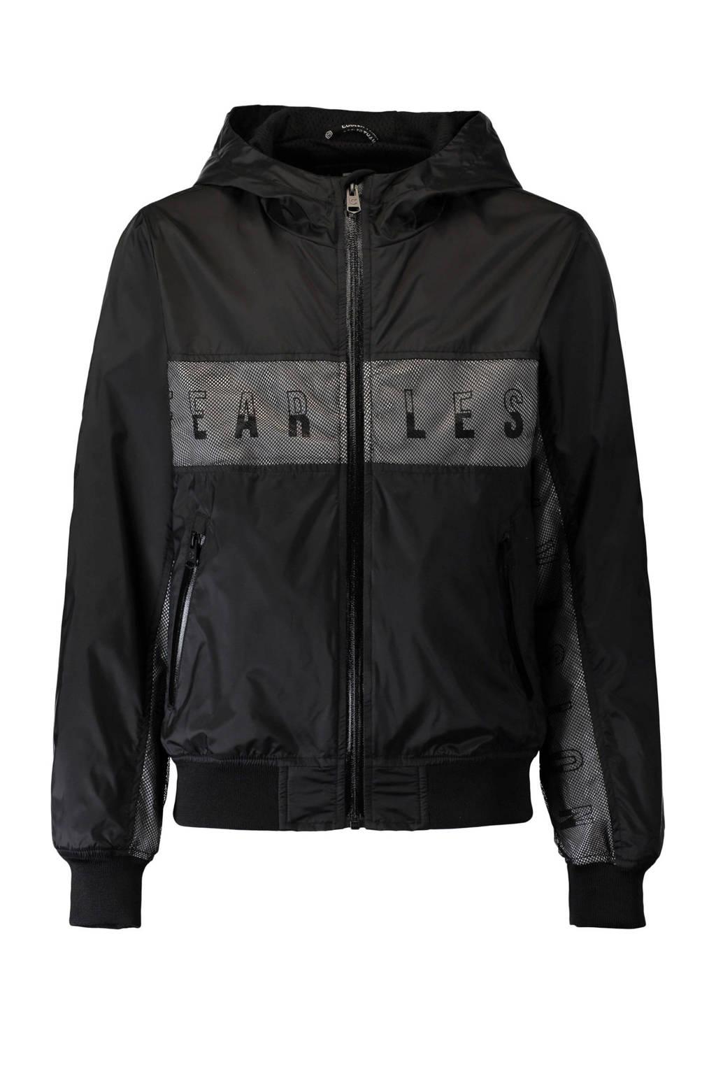 CoolCat zomerjas met tekst zwart, Zwart
