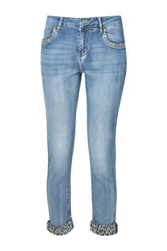 sli fit jeans met panterprint details