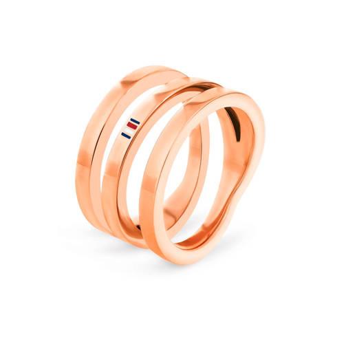 Tommy Hilfiger ring TJ2701099 rosègoudkleur kopen