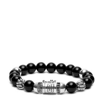 armband zilver/zwart