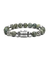Buddha To Buddha armband zilver/groen, Zilver/groen