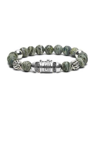 armband zilver/groen
