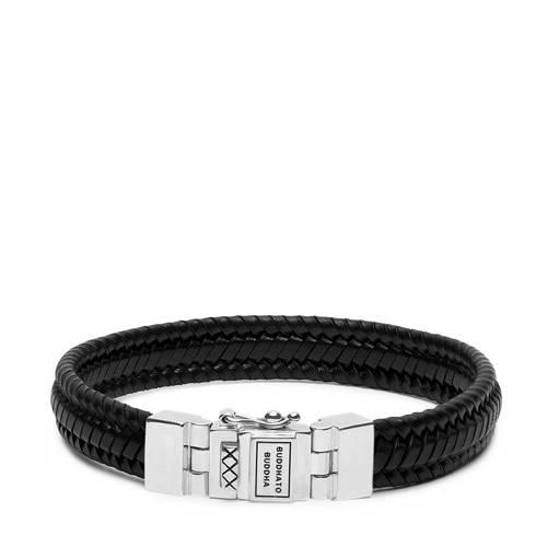 Buddha to Buddha armband Edwin Small Leather Black (E) 19 cm 181BL