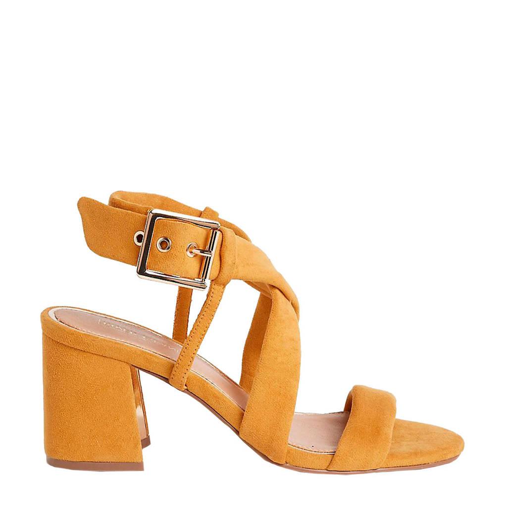 River Island   sandalettes okergeel, Okergeel