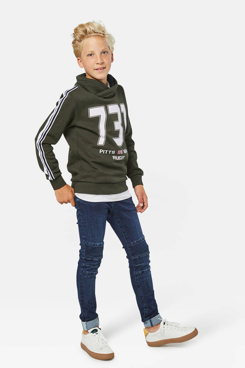 WE Fashion Blue Ridge super skinny jeans Diego Biker, Dark denim