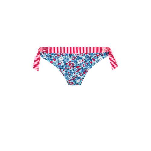 s.Oliver gebloemd strik bikinibroekje blauw