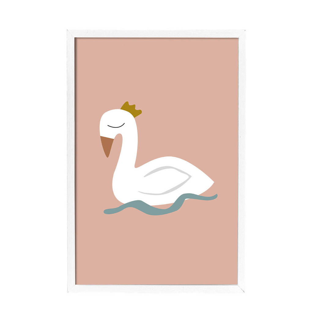 Bloomingville Mini lijst met poster (65x45 cm), Wit