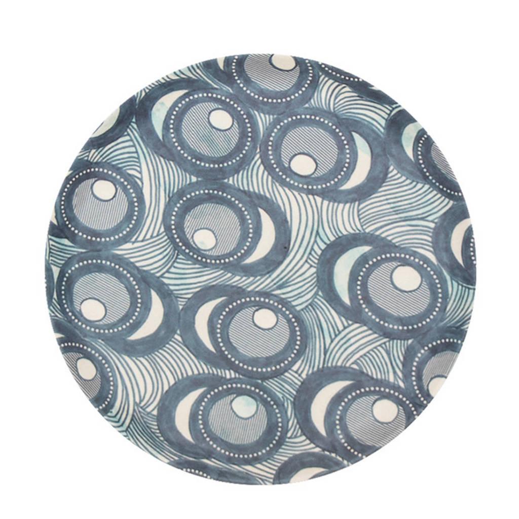 Urban Nature Culture Fish eye petit four bordje (Ø14 cm), Blauw/wit