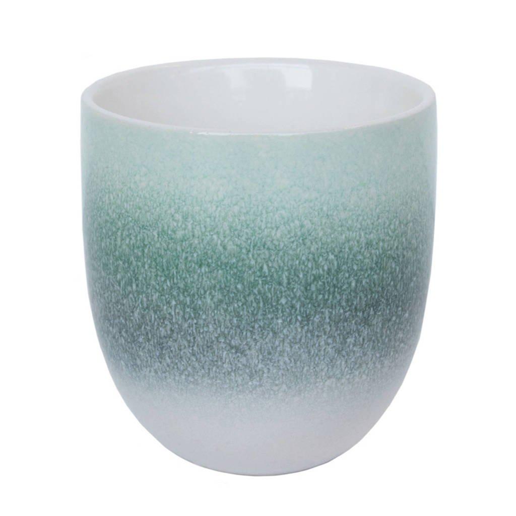 Urban Nature Culture Reactive glaze mok (Ø9 cm), Groen/mintgroen/wit