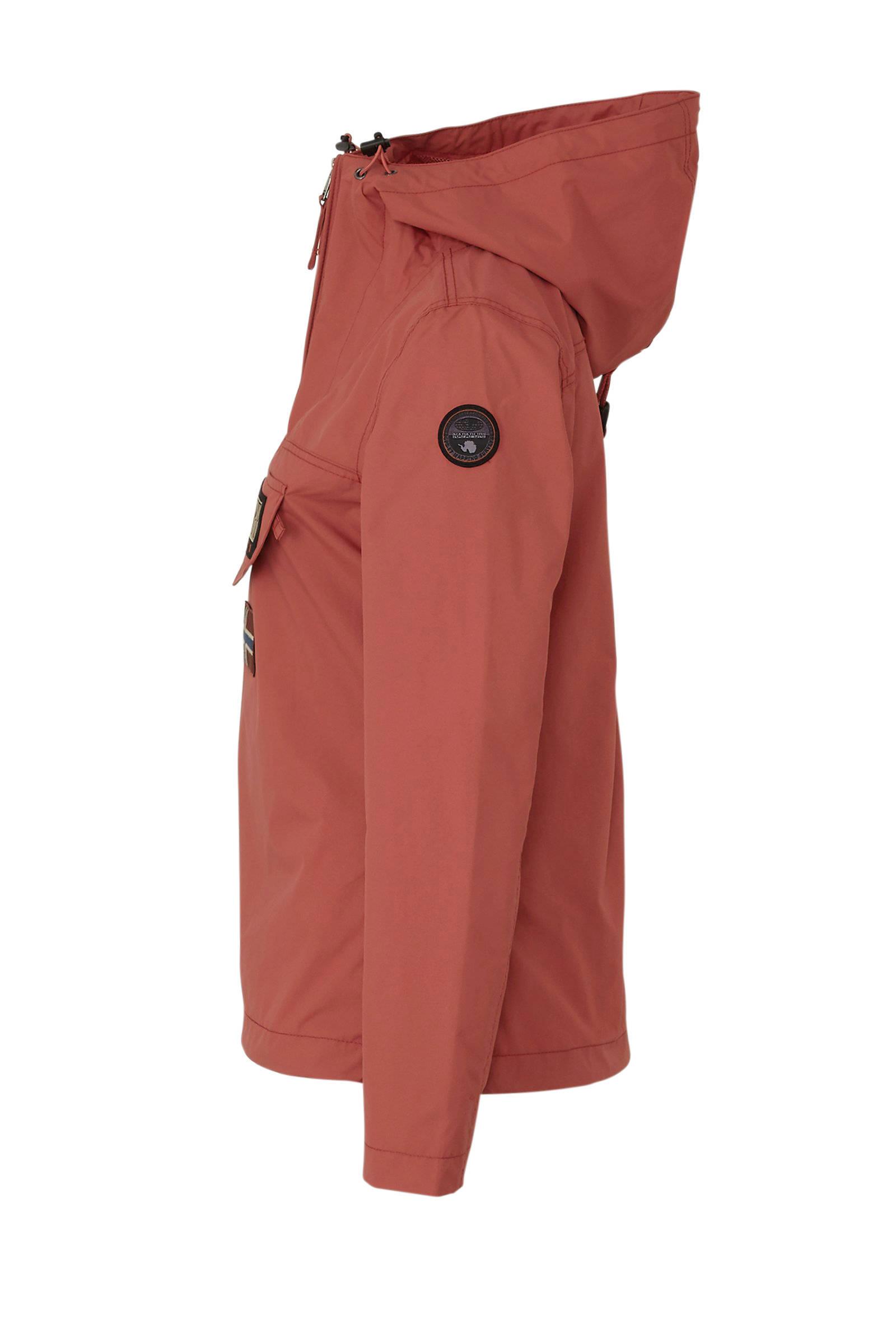 Napapijri jas met capuchon oudroze | wehkamp