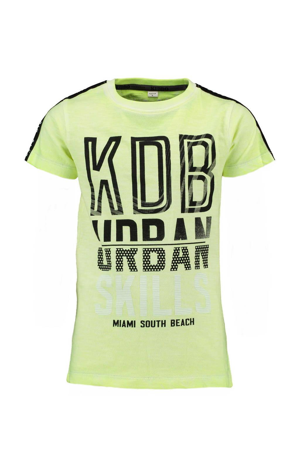 KIDDO T-shirt licht geel