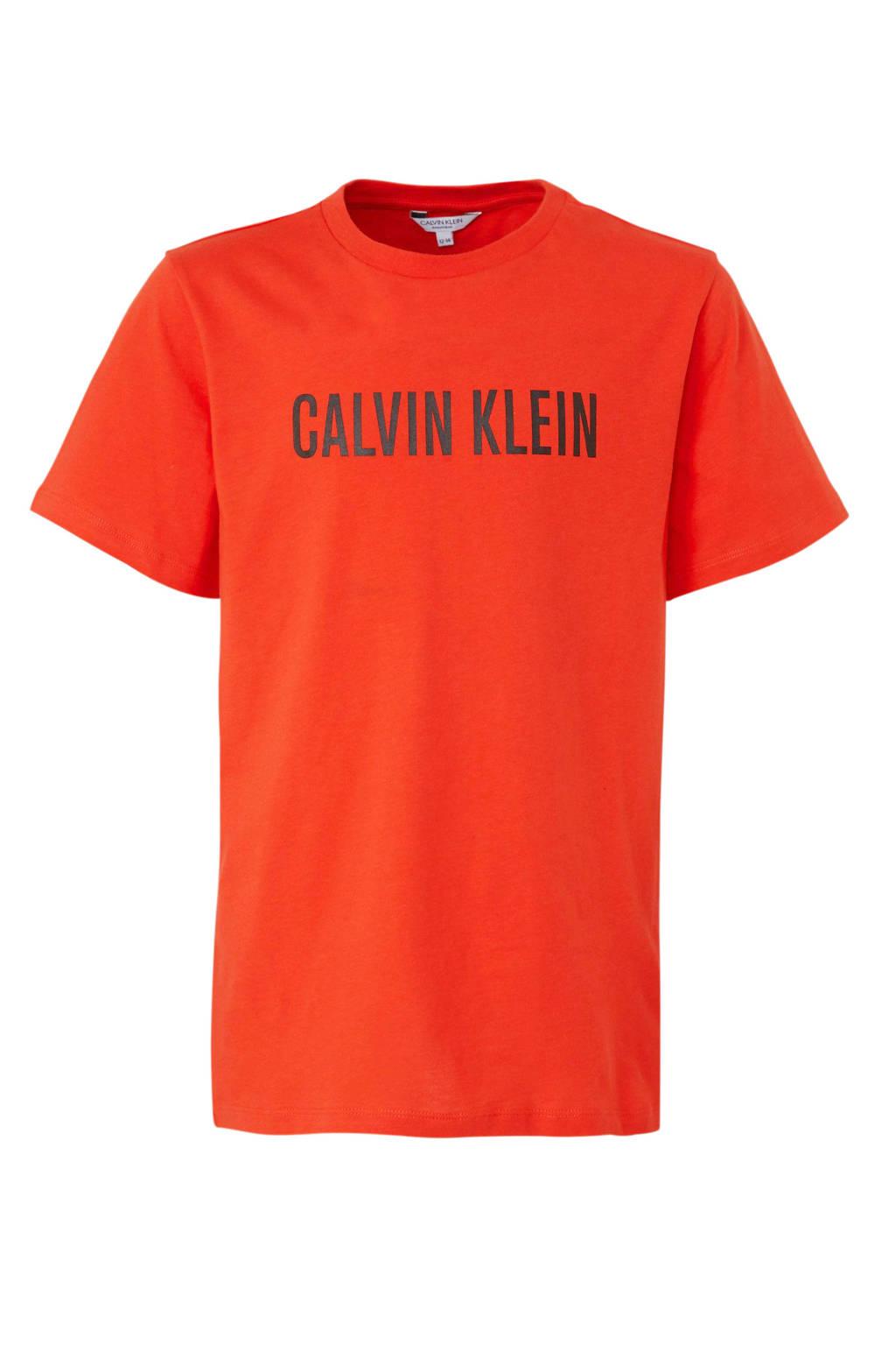 Calvin Klein T-shirt met logo rood, Rood