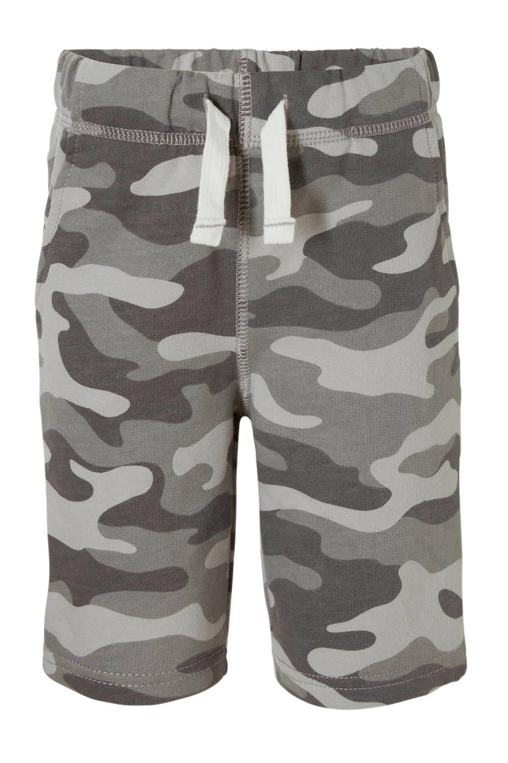Carter's sweatshort met camouflageprint grijs, Grijs