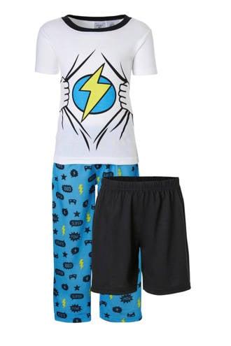 pyjama wit/blauw