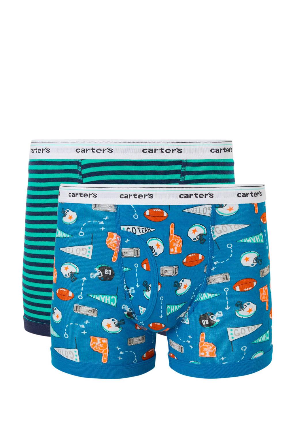Carter's   boxershort - set van 2, Blauw/groen