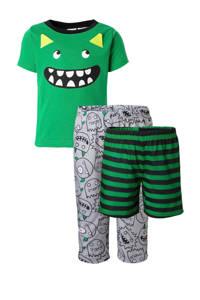 Carter's   pyjama met monsters groen/grijs, Groen/grijs