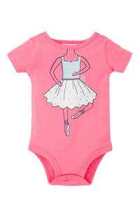 Carter's baby romper met print roze, Roze