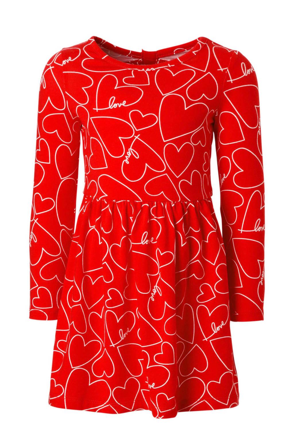 Carter's baby jurk met hartjes en open detail rood, Rood