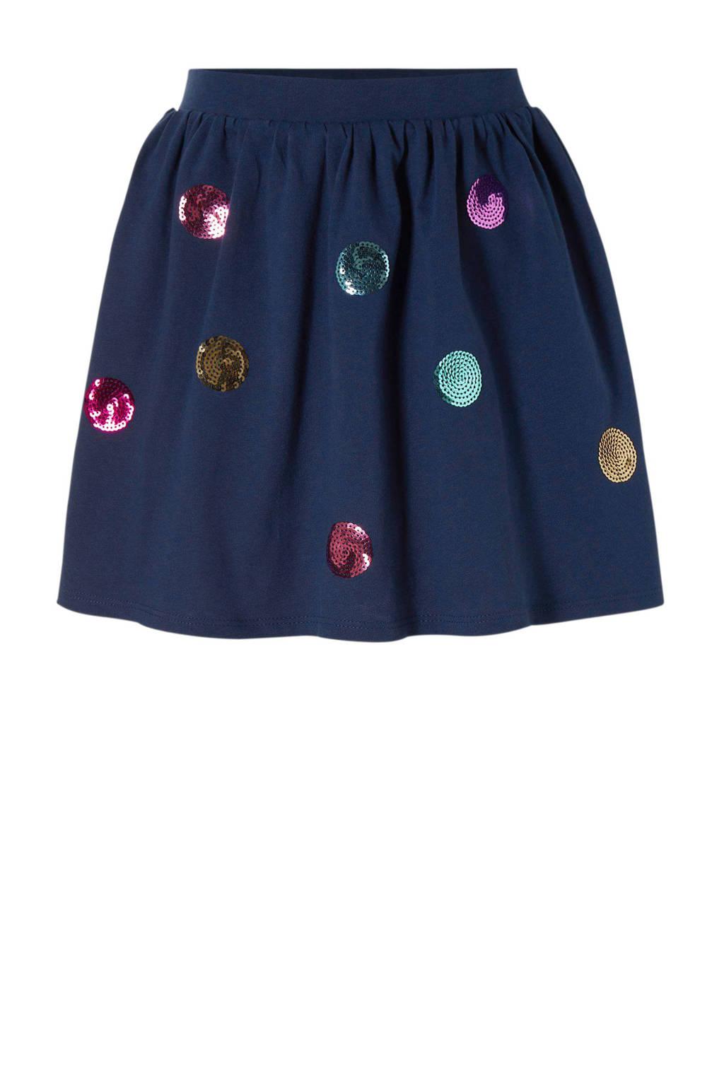 Carter's baby rok met pailletten blauw, Donkerblauw