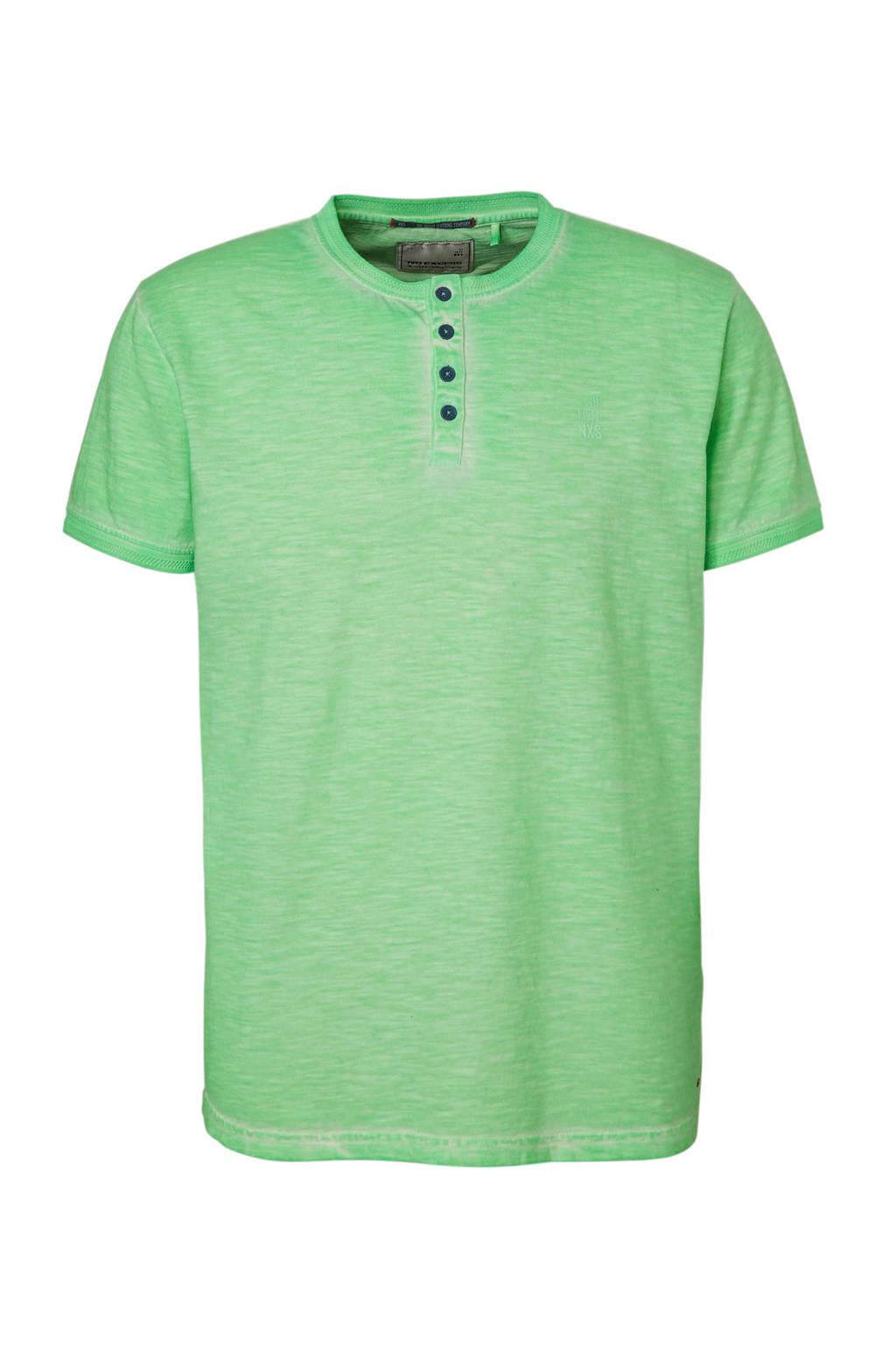 No Excess gemêleerd T-shirt lichtgroen, Lichtgroen