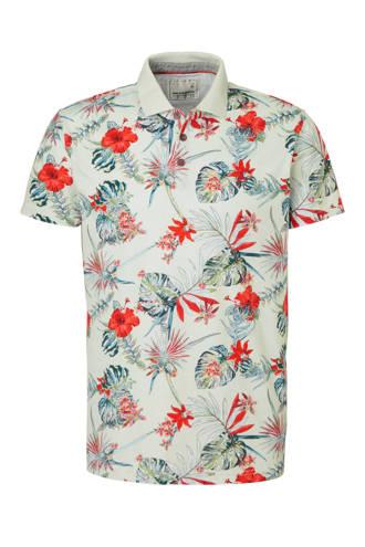 overhemd met allover bloemprint ecru