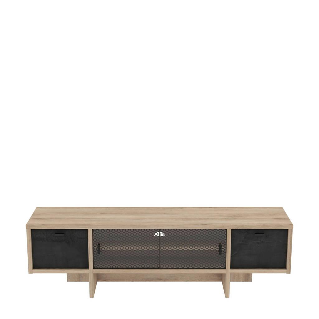 anytime Tv-meubel Saga, Eiken/Zwart