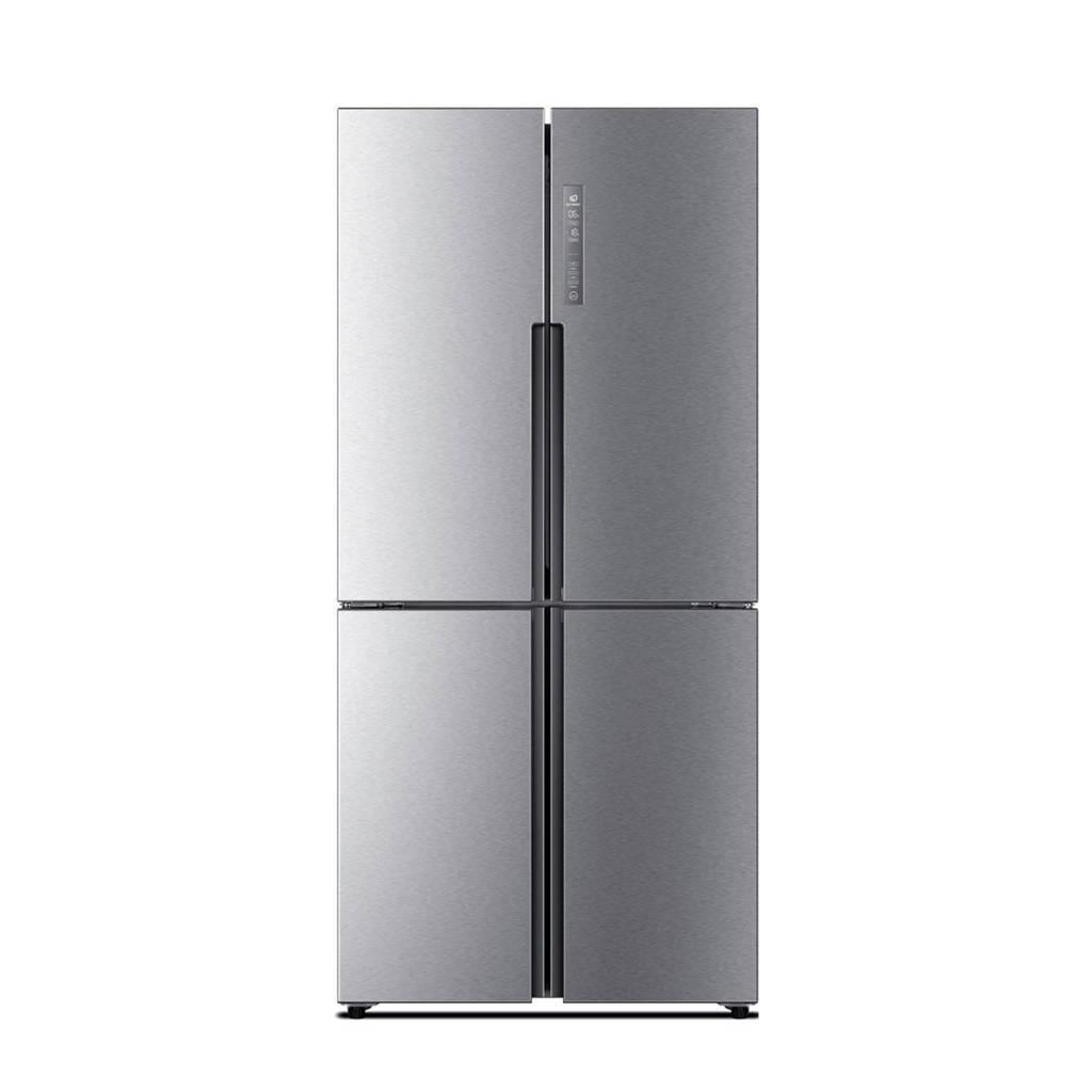 Haier HTF-452DM7 Amerikaanse koelkast, Zilver