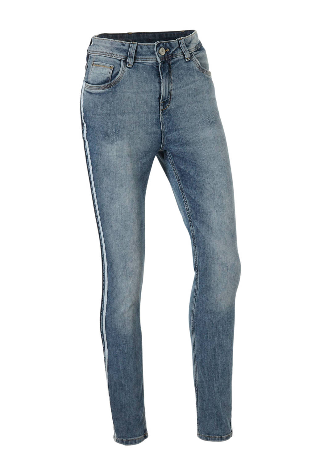 C&A Yessica high waist skinny jeans met zijstrepen, Stonewashed