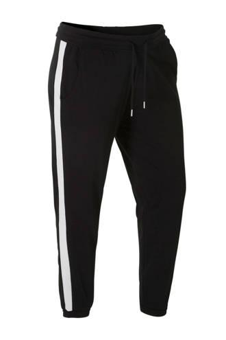 XL Clockhouse sweatpants met zijstreep zwart