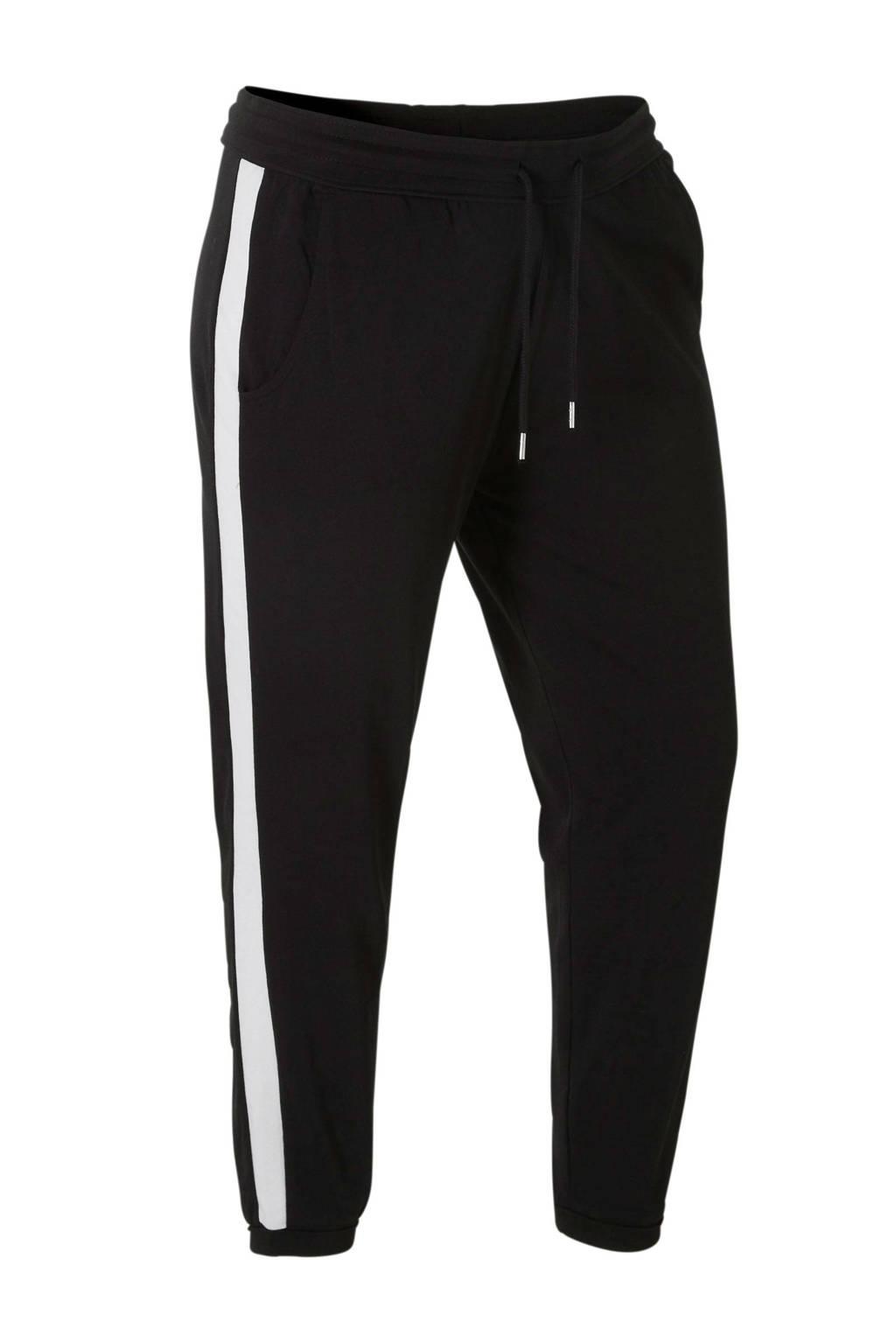 C&A XL Clockhouse sweatpants met zijstreep zwart, Zwart
