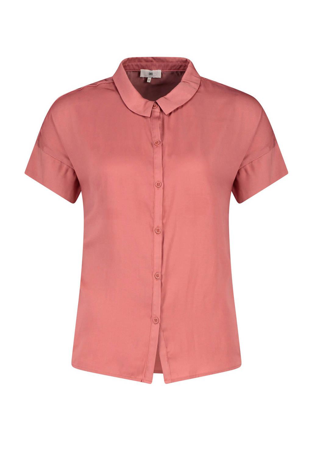 CKS Annas blouse satijnlook oudroze, Oudroze