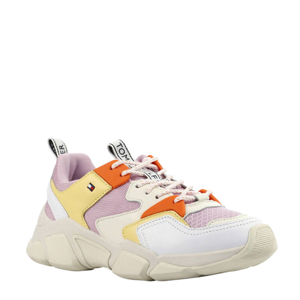 Tommy Hilfiger  Chunky Mixed sneakers geel/wit, Geel/Wit/Lila/Oranje