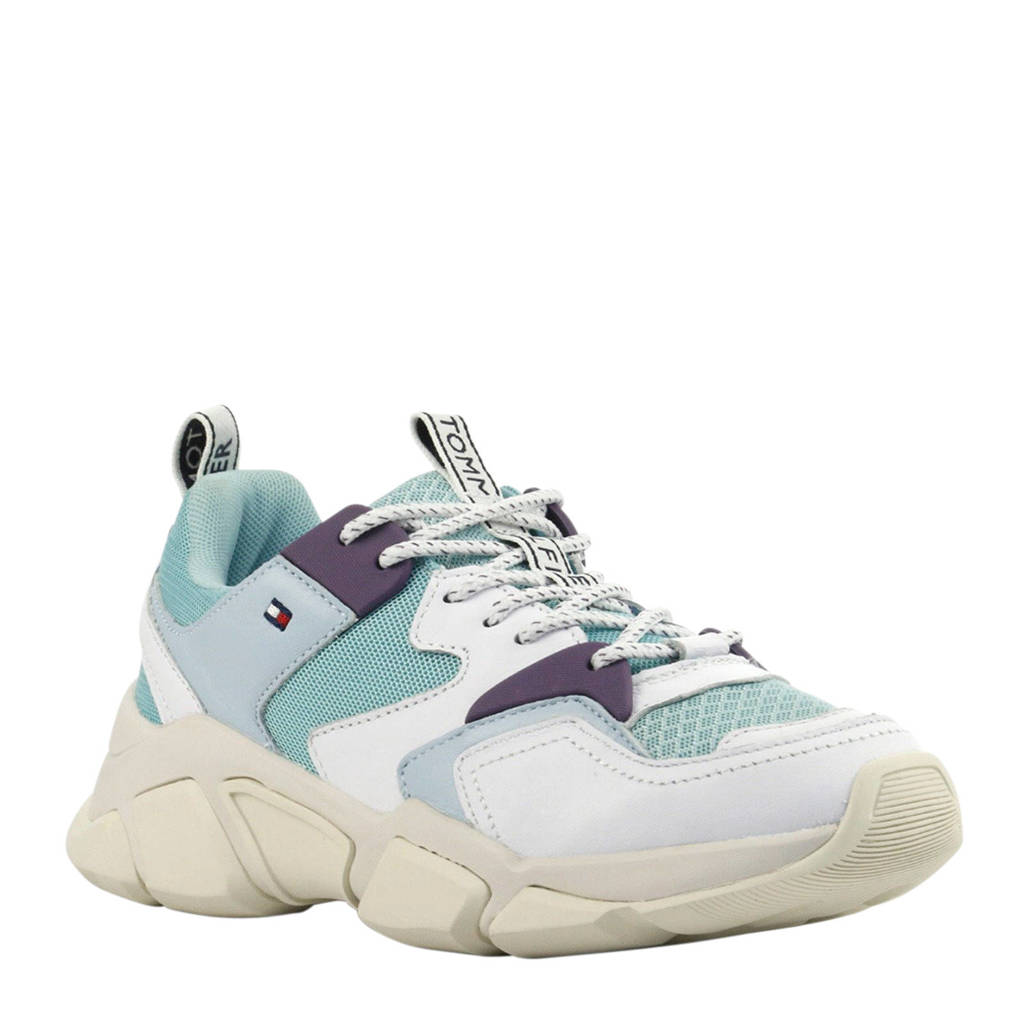 Tommy Hilfiger  Chunky Mixed sneakers blauw/wit, Blauw/wit/turquoise