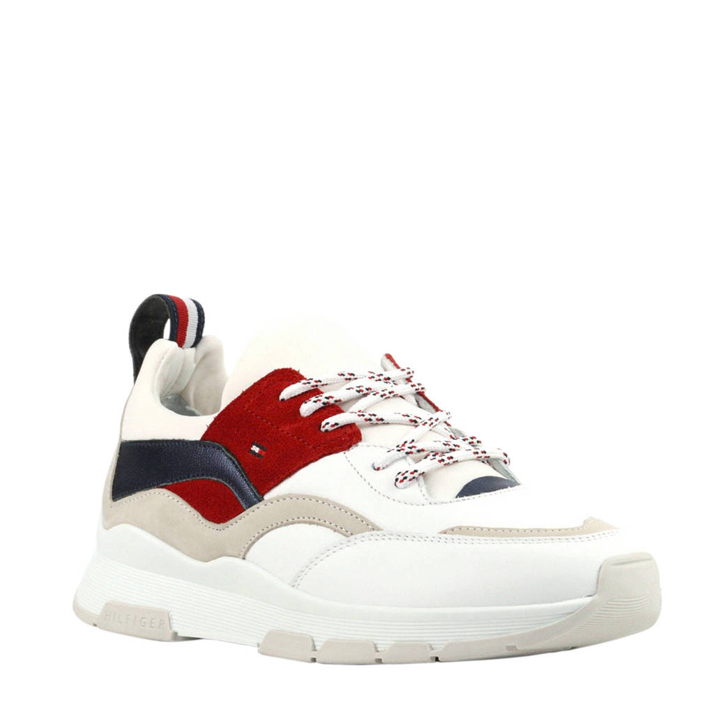 Tommy Hilfiger  RWD Tommy Lifestyle leren sneakers, Wit